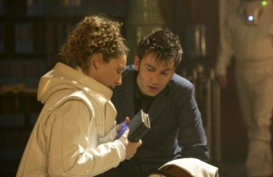 For all my Doctor Who fans, the ultimate library moment. Goodbye, sweetie.